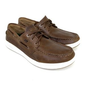 Sperry boat shoes brown leather 8.5M